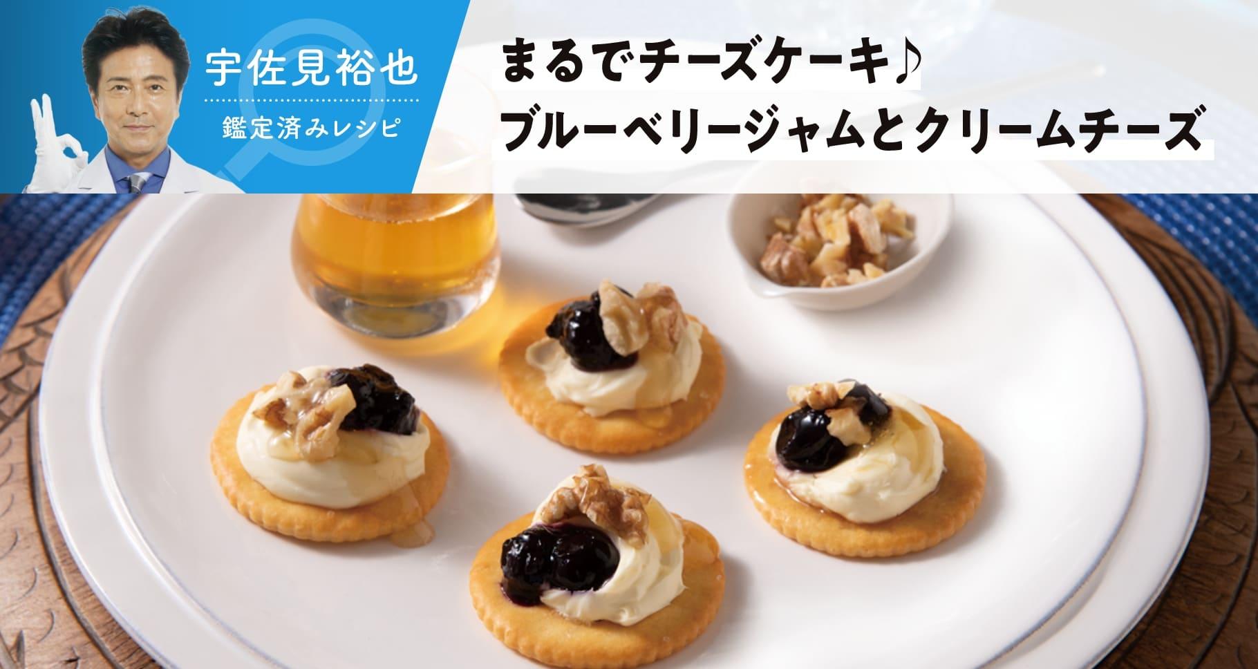 宇佐見裕也 まるでチーズケーキ ブルーベリジャムとクリームチーズ