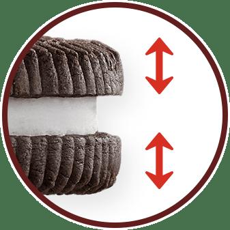 クッキーの厚みアップ!