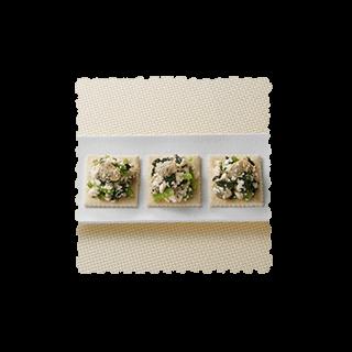 あさりと小松菜の白和えのせ