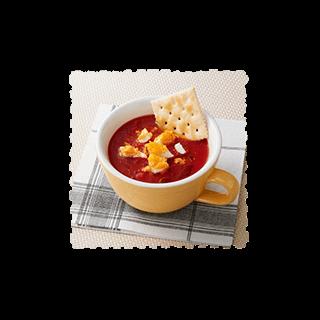 冷たいガスパチョ風スープ