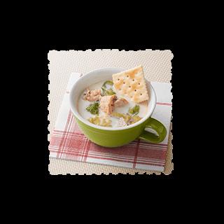 レンジで豆乳スープ