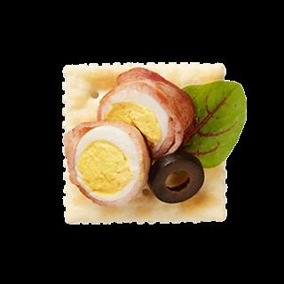 ころころ卵のベーコン巻き