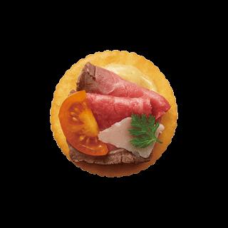 ちょっとリッチな<br>ローストビーフのチーズのせ
