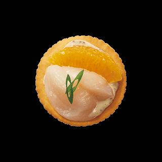 ホタテとオレンジの爽やか風味