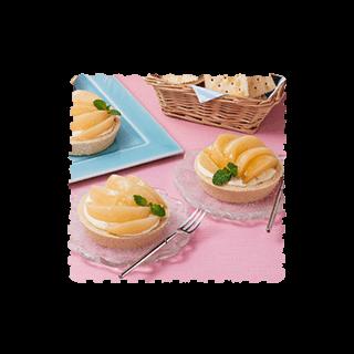 白桃とクリームチーズのタルト